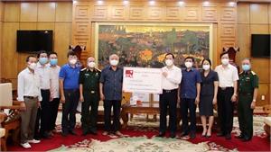 Bắc Giang: Tiếp nhận ủng hộ phòng, chống dịch Covid-19