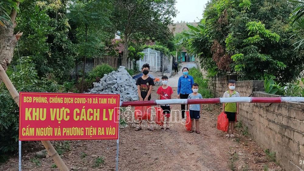 Bắc Giang, xã Tam Tiến, chống dịch, covid, Yên Thế