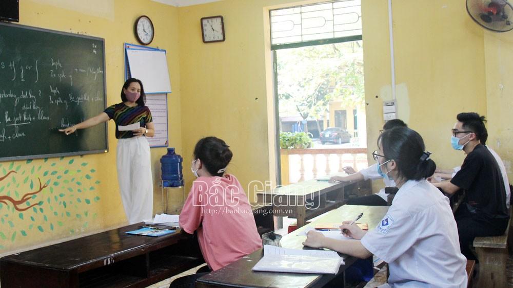 Bắc Giang, giáo dục, thi tốt nghiệp THPT, học sinh trở lại trường, THPT Thái Thuận