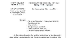 Bắc Giang: Các bước đưa lao động ngoài tỉnh đủ điều kiện trở lại làm việc tại doanh nghiệp