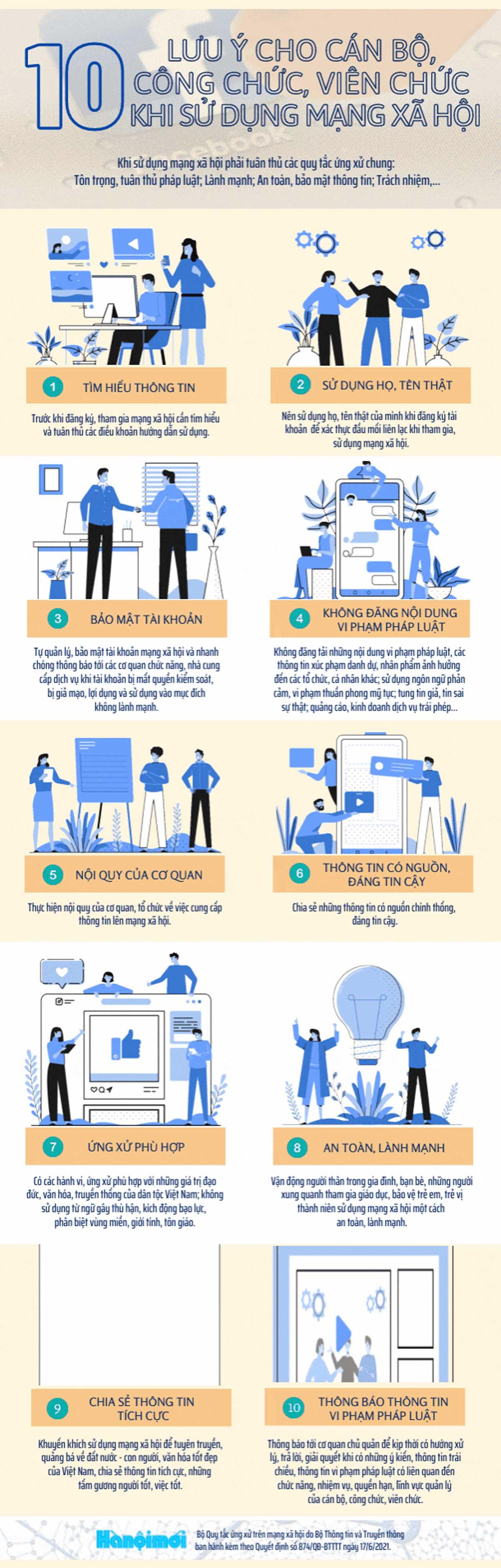 10 lưu ý,i cán bộ, công chức, viên chức, sử dụng mạng xã hội