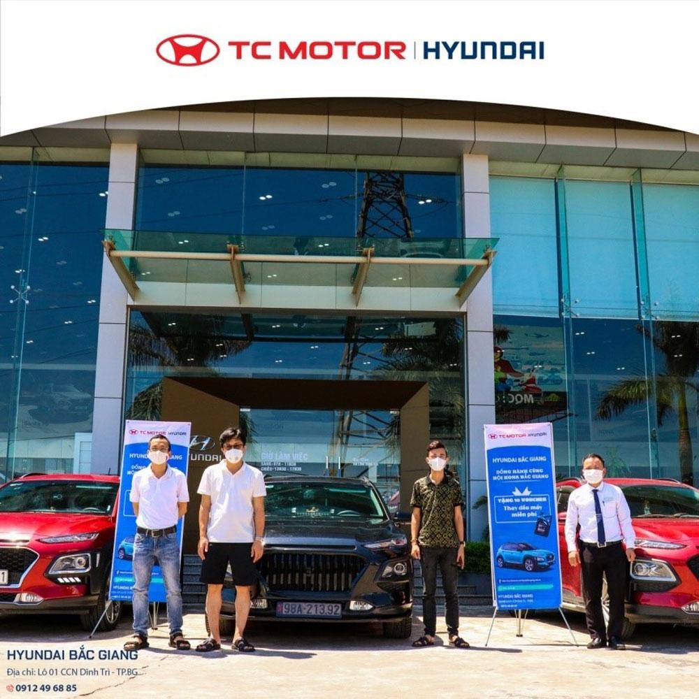 Hyundai Bắc, Hyundai Bắc Giang, CLB Kona Bắc Giang, thay dầu, kiểm tra định kỳ xe, Hyundaibacgiang