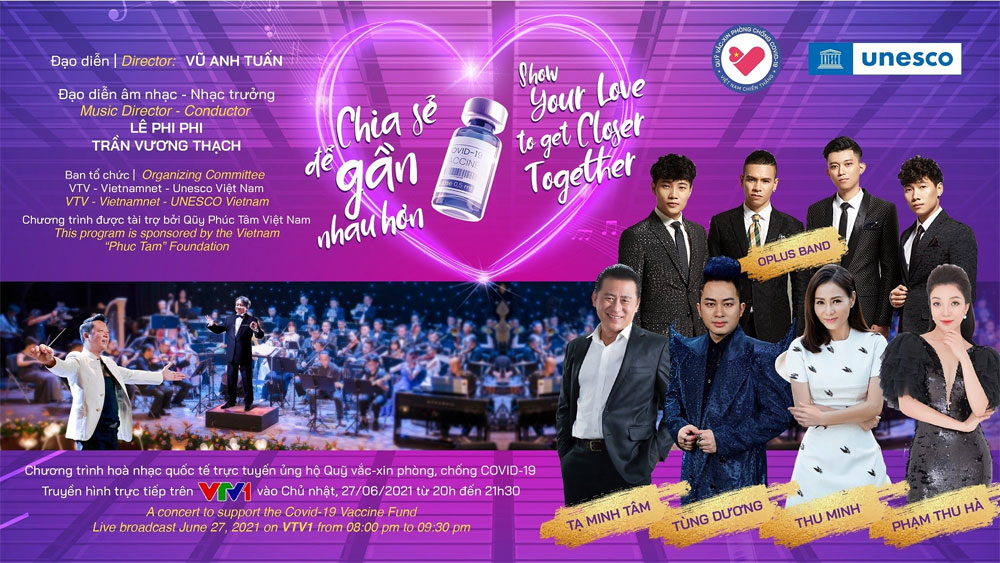 Special online concert, Covid-19 Vaccine Fund, largest-ever vaccination campaign, online international symphony concert