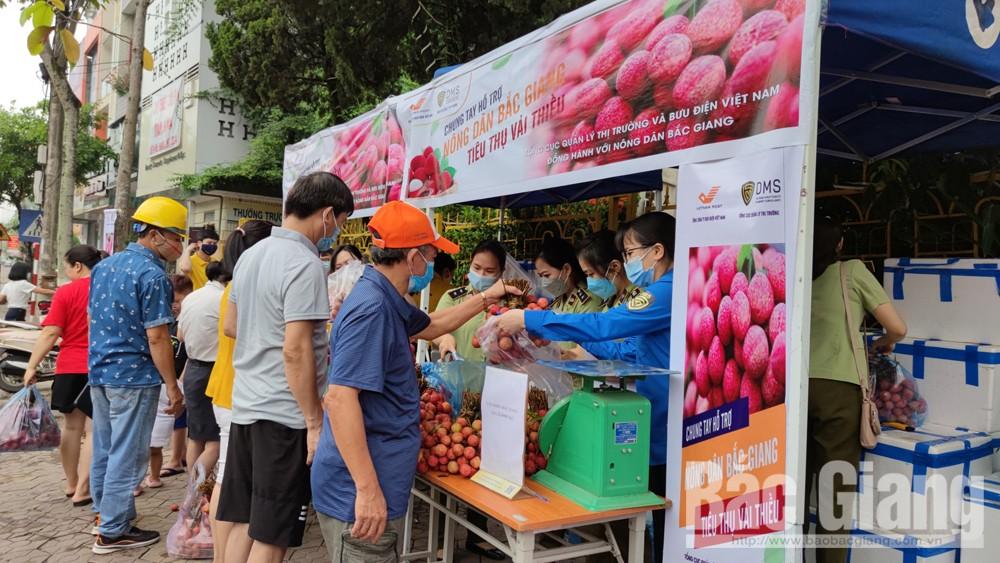 Lực lượng quản lý thị trường, Cục Quản lý thịtrường tỉnh, Tổng Cục Quản lý thị trường, tiêu thụ vải thiều, Bắc Giang