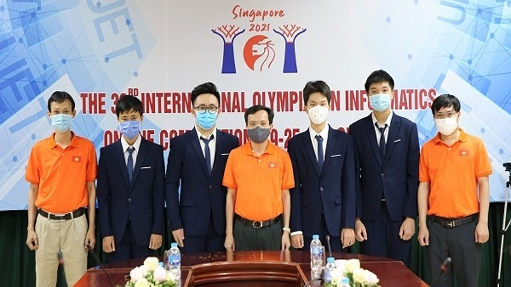 Vietnamese students, win silver, Int'l informatics Olympiad,12th grader, online format, Quality Management Department