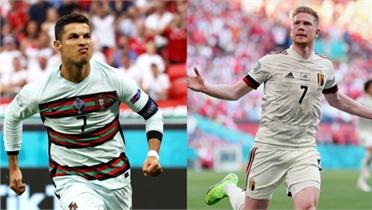 EURO 2020: Bỉ gặp Bồ Đào Nha - Chờ Ronaldo lập kỷ lục