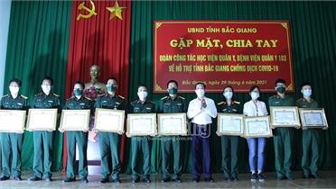 Đoàn công tác Học viện Quân y hoàn thành nhiệm vụ phòng, chống dịch  tại Bắc Giang