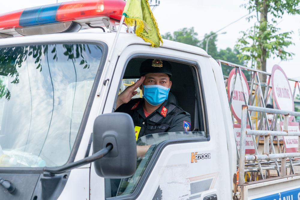 Chốt kiểm soát dịch, covid-19,  đường Hùng Vương, tp Bắc Giang, Bắc Giang giãn cách xã hội