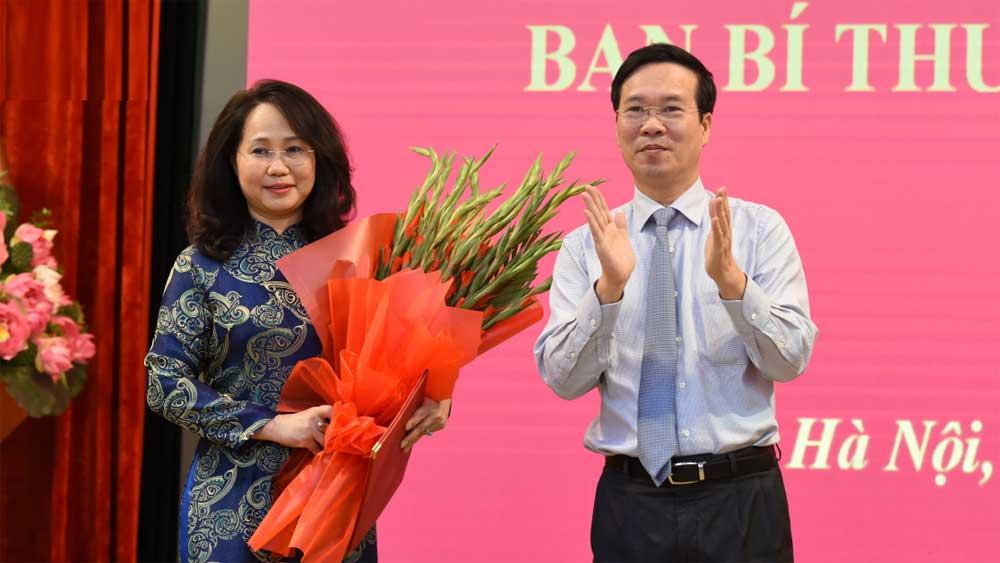Đồng chí Lâm Thị Phương Thanh và Đặng Khánh Toàn giữ chức Phó Chánh Văn phòng Trung ương Đảng