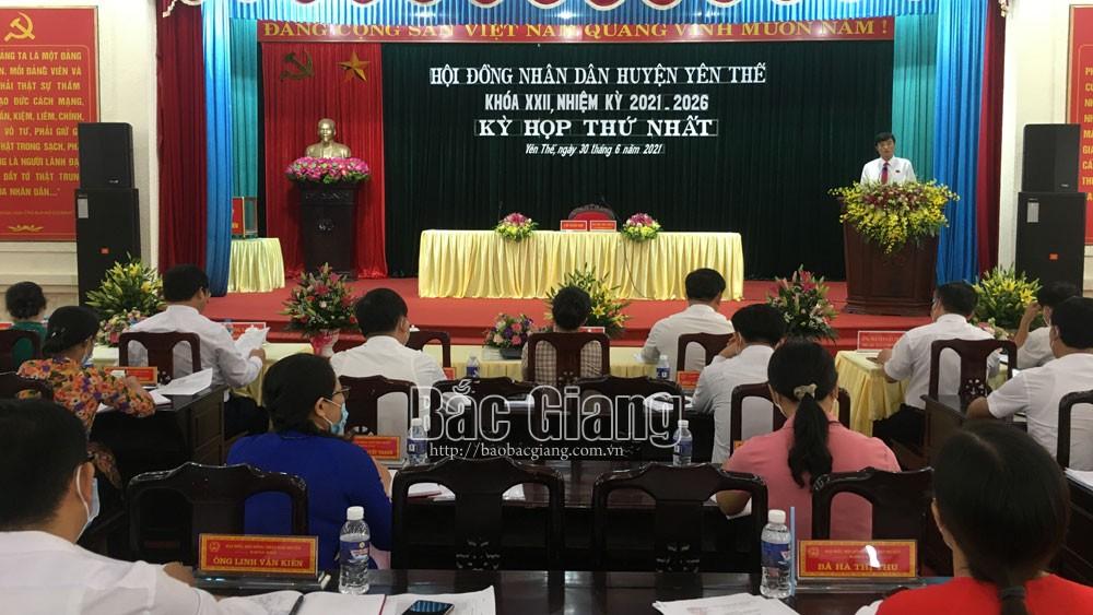 Yên Thế, Bí thư, Huyện ủy, Bùi Thế Chung, được bầu làm, Chủ tịch, HĐND huyện, khóa XXII