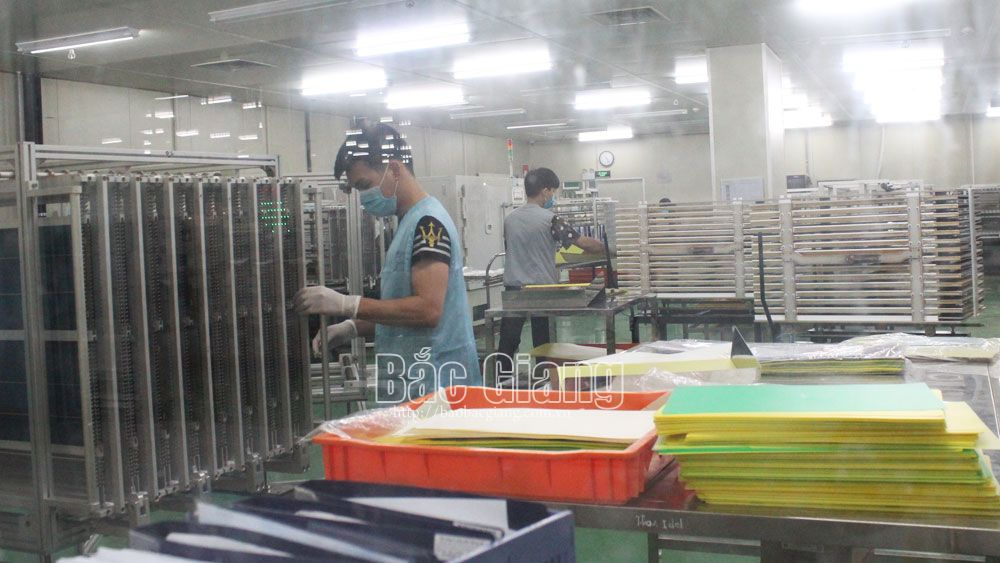 Nearly 56,000 workers, come back work, industrial park, Bac Giang province, Covid-19 pandemic, safety condition, preventive measure