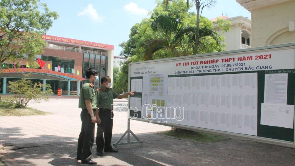Bắc Giang: phương án, bảo đảm an ninh, an toàn kỳ thi tốt nghiệp THPT 2021