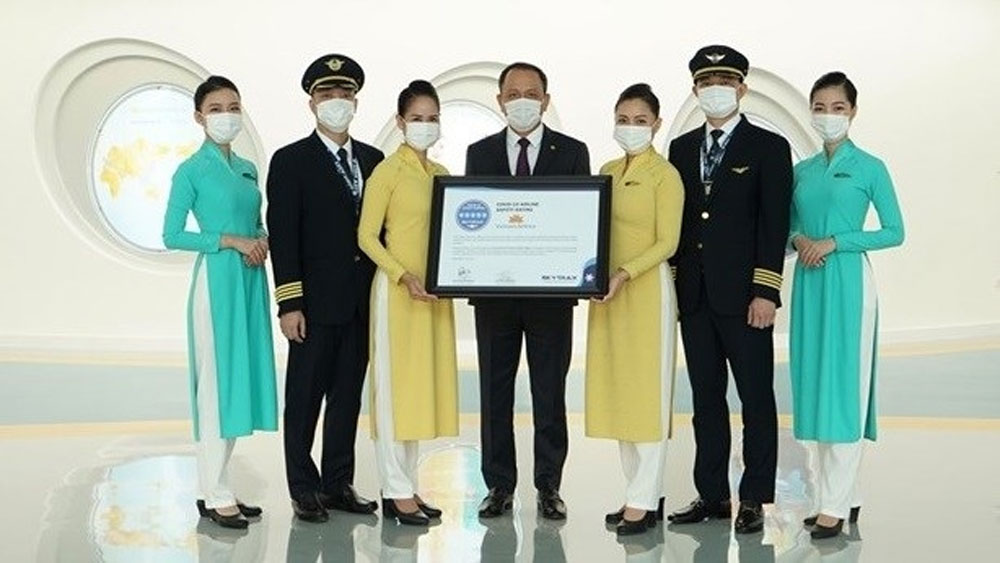 Vietnam Airlines, five-star, Covid-19 airline safety rating, spread of the coronavirus, hygiene processes,  Skytrax