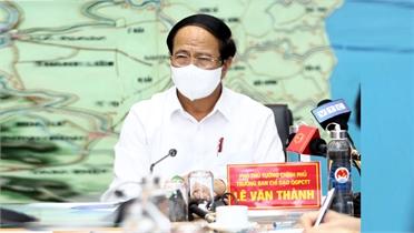 Phó Thủ tướng Lê Văn Thành: Giảm thiểu tối đa thiệt hại do áp thấp nhiệt đới, mưa lũ