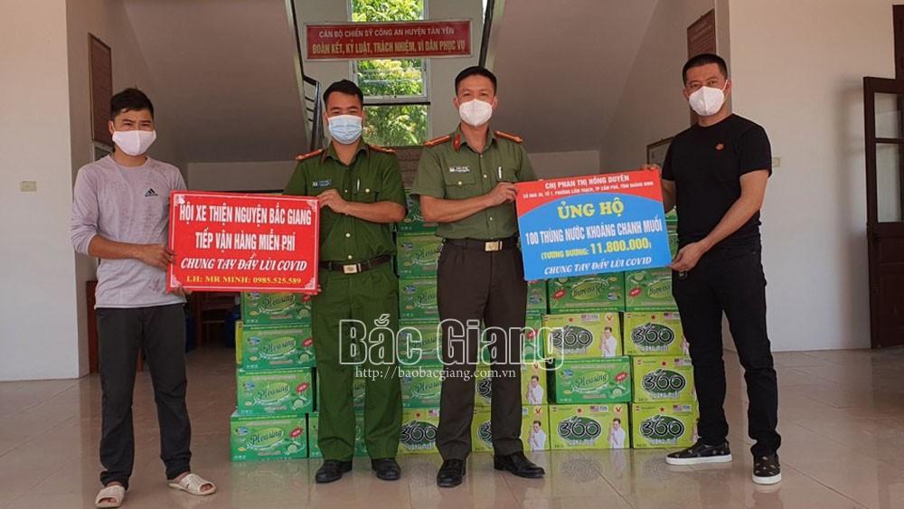 đội xe tình nguyện, Đỗ Văn Tuấn, thiện nguyện, chở hàng hóa. tình nguyện dịch Covid-19, Bắc Giang