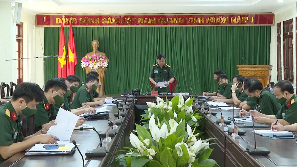 Bộ CHQS tỉnh Bắc Giang, luyện tập chỉ huy - cơ quan, 1 bên 2 cấp, chỉ huy tham mưu tác chiến