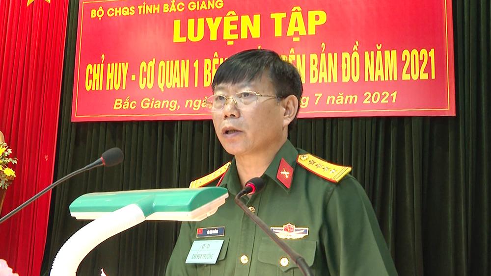 Bắc Giang: Luyện tập nâng cao trình độ chỉ huy tham mưu tác chiến