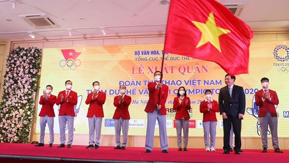 Vietnamese contingent, warm send-off, Tokyo 2020 Olympics, Vietnam Olympic Committee, Vietnamese sport contingent, 2020 Olympic Games