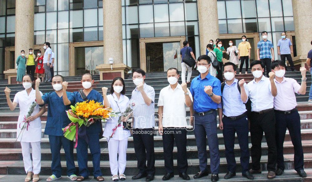Bac Giang: 59 volunteers support Southern provinces in Covid-19 fight