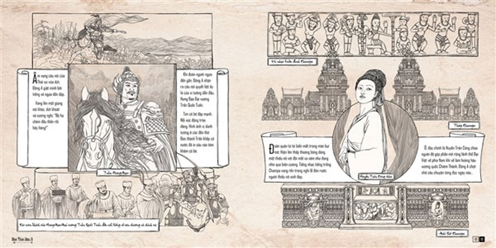Young author, Hanh Trinh Dong A, Dong A Journey, historical art book, Tran Dynasty, Tran Tuyet Han