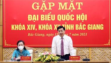 Gặp mặt Đại biểu Quốc hội tỉnh Bắc Giang khóa XIV và XV