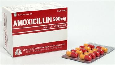 Bắc Giang phát hiện 4 mẫu viên nang cứng Amoxicilin 500 mg không đạt tiêu chuẩn