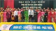 Hội Liên hiệp phụ nữ huyện Sơn Động tổ chức đại hội lần thứ XIX