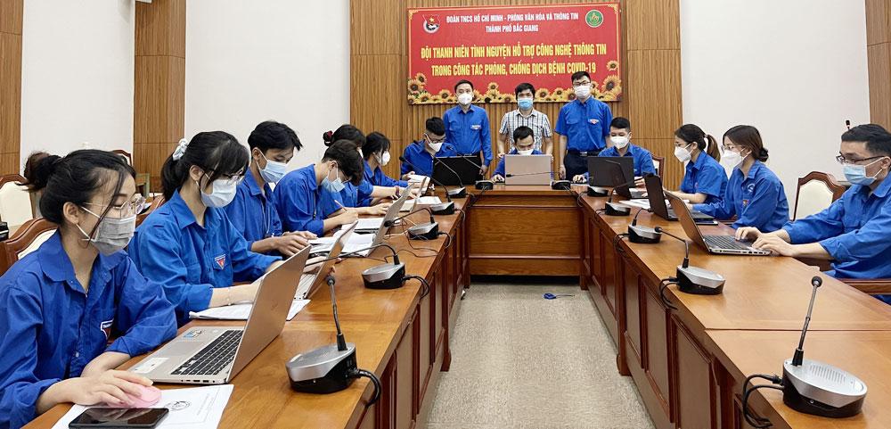 Covid-19, TP Bắc Giang, Bắc Giang, tình nguyện