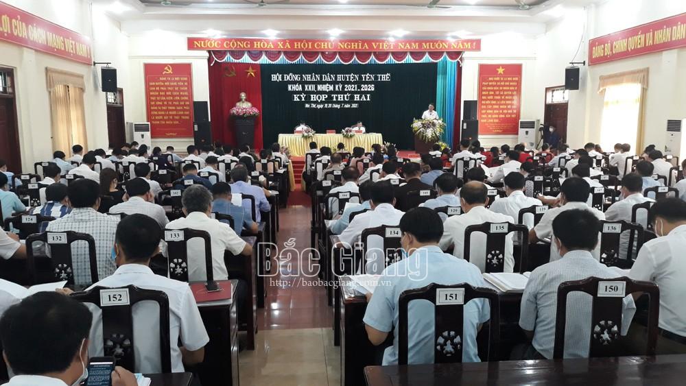 Yên Thế, HĐND huyện, khóa XXII, tổ chức, kỳ họp thứ Hai