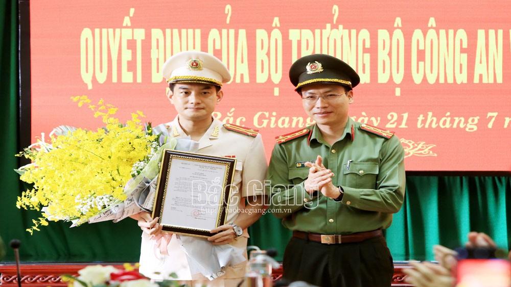 Bổ nhiệm, thượng tá Đỗ Đức Trịnh, Bổ nhiệm Phó Giám đốc Công an tỉnh Bắc Giang, Công an tỉnh Bắc Giang