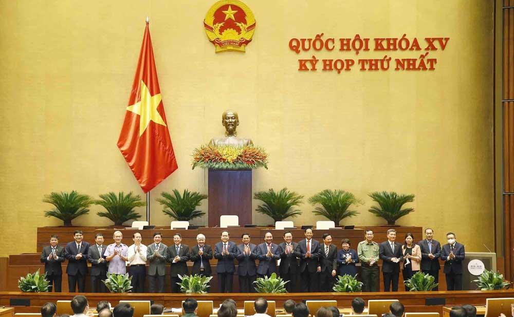 Kỳ họp thứ nhất, Quốc hội khóa XV, Bầu lãnh đạo, cơ quan , Quốc hội