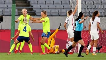 Olympic Tokyo 2020: Tuyển nữ Mỹ đứt mạch bất bại sau 44 trận