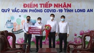 Agribank - Chi nhánh Bắc Giang ủng hộ 150 triệu đồng cho Quỹ vaccine Long An