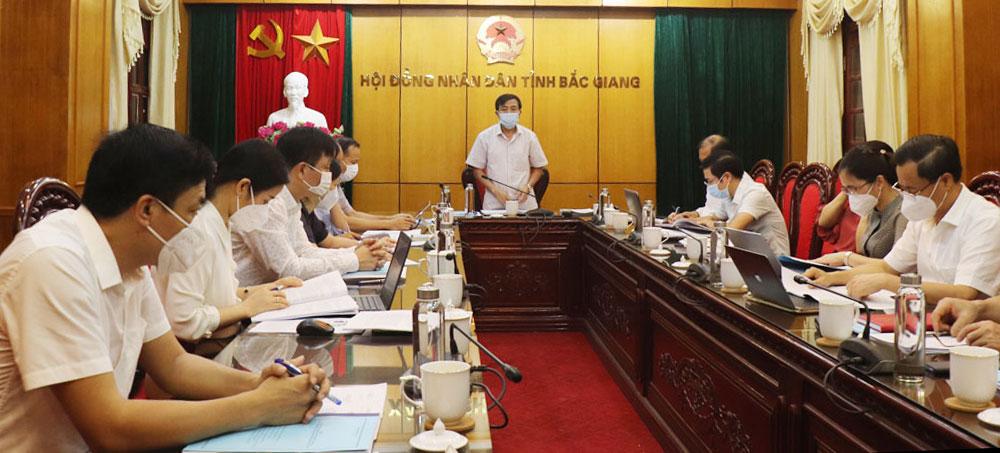 HĐND tỉnh, thẩm tra, nghị quyết, Bắc Giang
