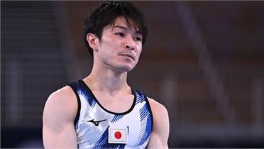 Huyền thoại thể dục Nhật Bản chia tay Olympic với pha trượt ngã