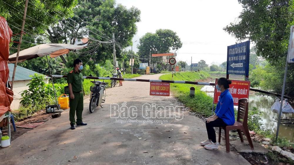 Covid-19, phòng dịch, Tân Yên, Bắc Giang, giãn cách xã hội.