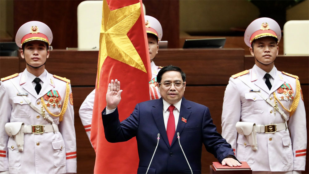 Pham Minh Chinh, re-elected, Prime Minister, 2021-2026 tenure, 15th National Assembly