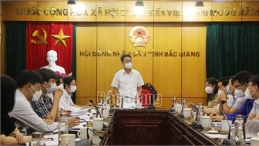 Thẩm tra báo cáo, dự thảo Nghị quyết trình kỳ họp thứ 2, HĐND tỉnh