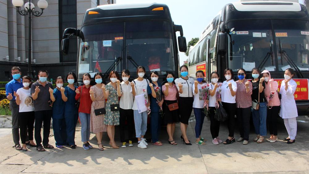 Bắc Giang, hỗ trợ tỉnh Tây Ninh chống dịch, đoàn y sĩ, bác sĩ, điều dưỡng, lên đường chống dịch, phòng, chống dich Covid-19