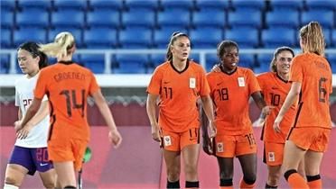 Nữ Hà Lan thắng đậm Trung Quốc 8-2 ở Olympic Tokyo