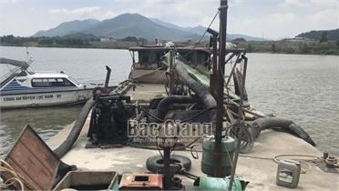 Lục Nam: Xử phạt đối tượng khai thác cát trái phép hơn 30 triệu đồng