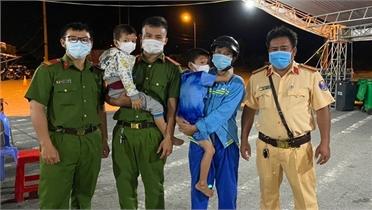 Hai bé trai từ Hậu Giang sang Cần Thơ tìm cha đã được đưa về an toàn
