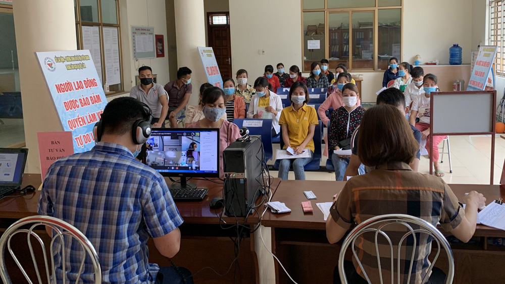 Bac Giang holds online job transaction session with Northern localities
