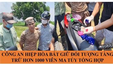 Bắc Giang: Bắt quả tang đối tượng tàng trữ hơn 1.000 viên ma túy tổng hợp