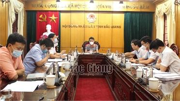 Thẩm tra dự thảo tờ trình, Nghị quyết trình kỳ họp thứ 2, HĐND tỉnh Bắc Giang