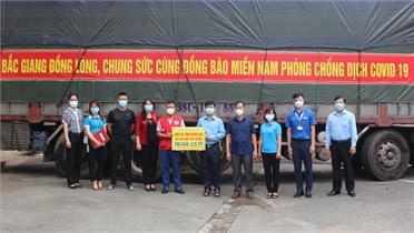 80 tấn hàng hóa tỉnh Bắc Giang gửi tặng đã đến Đồng Nai