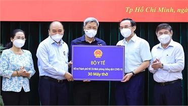 Chủ tịch nước Nguyễn Xuân Phúc: Giãn cách phải gắn với chăm lo đời sống người dân