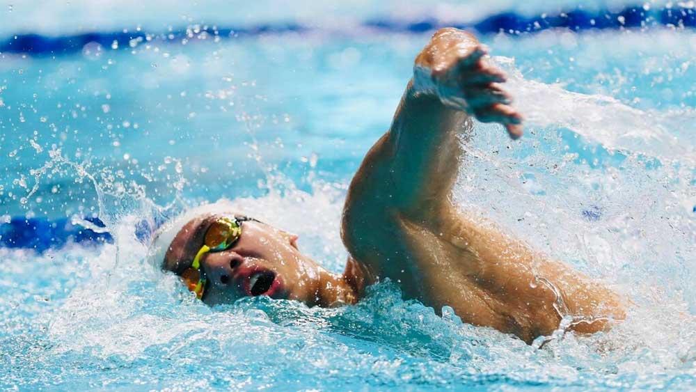 Huy Hoàng, bị loại, đường bơi 1.500m tự do