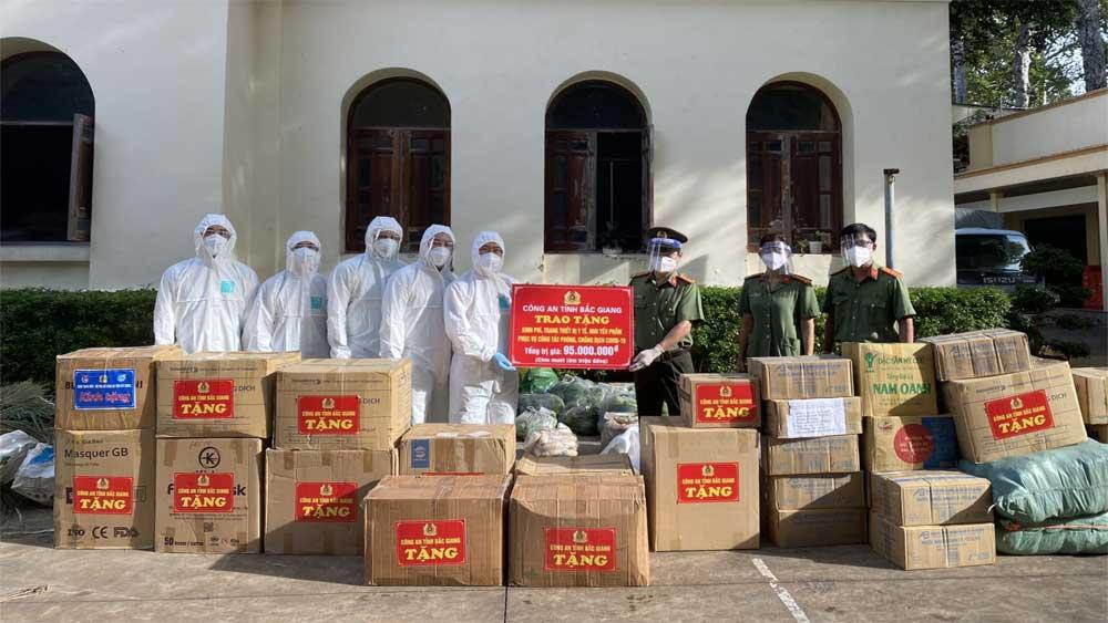 Đoàn Công an tỉnh Bắc Giang,  có mặt, TP Hồ Chí Minh, tỉnh Bình Dương