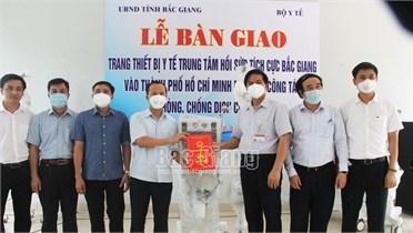 Chuyển trang thiết bị hồi sức tích cực vào TP Hồ Chí Minh điều trị bệnh nhân nặng